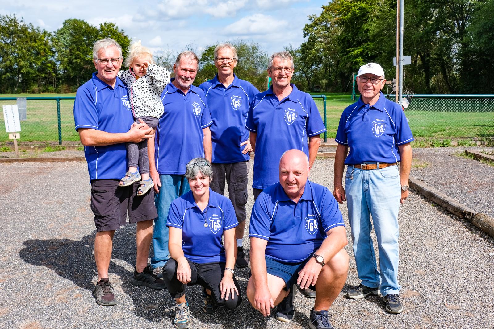 Team TGS: Klaus, Günter, Kuni, Ralph, Werner, Silke und Stefan
